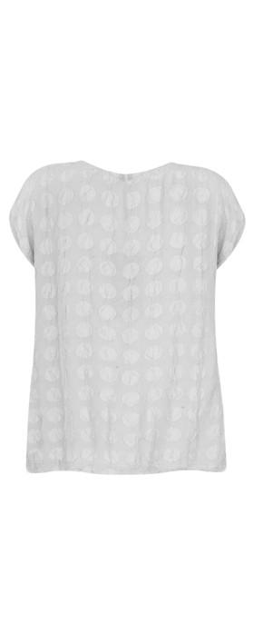 Grizas Tina Silk Spot T-Shirt Cool Taupe