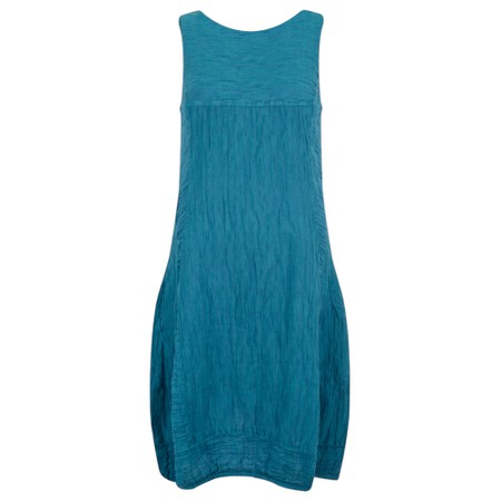 Grizas Domi Solid Crinkle Dress - Turquoise