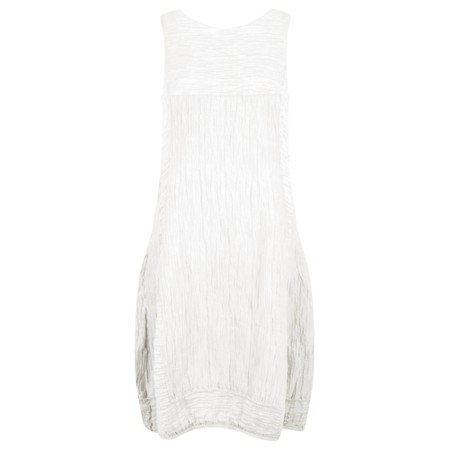 Grizas Domi Solid Crinkle Dress - White