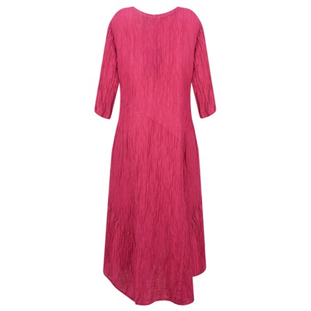Grizas Erna Solid Crinkle Dress - Pink