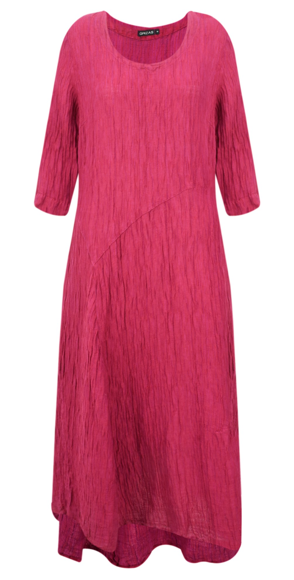 Erna Solid Crinkle Dress main image