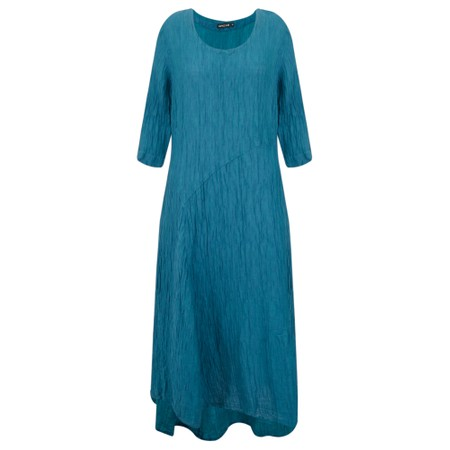 Grizas Erna Solid Crinkle Dress - Turquoise
