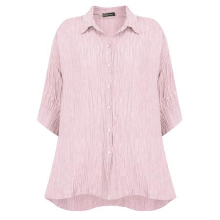 Grizas Urte Crinkle Linen Shirt - Pink