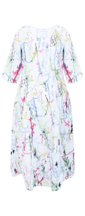 Grizas Erna Printed Linen Dress Multi