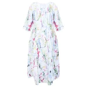 Grizas Erna Printed Linen Dress