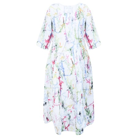 Grizas Erna Printed Linen Dress - Multicoloured