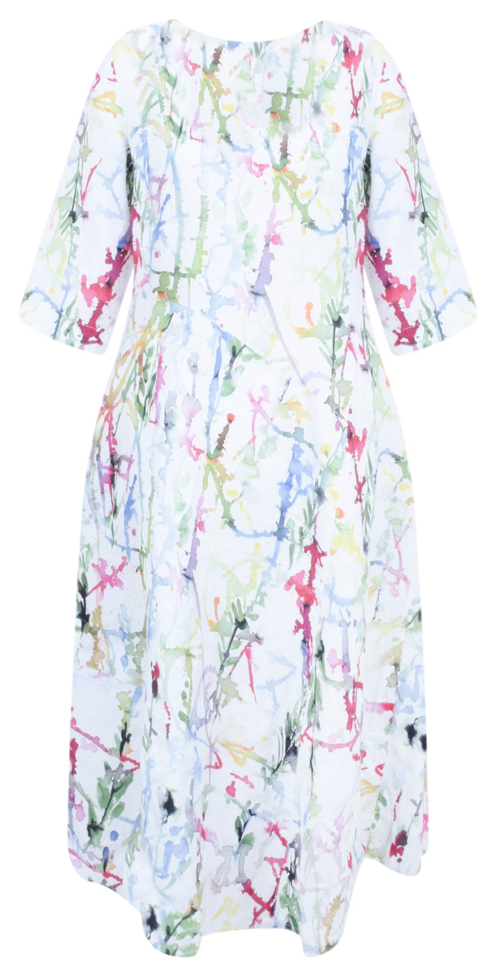 Erna Printed Linen Dress main image