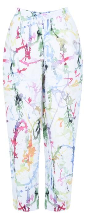 Grizas Klara Printed Linen Easyfit Trouser Multi