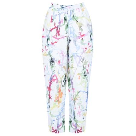 Grizas Klara Printed Linen Easyfit Trouser - Multicoloured