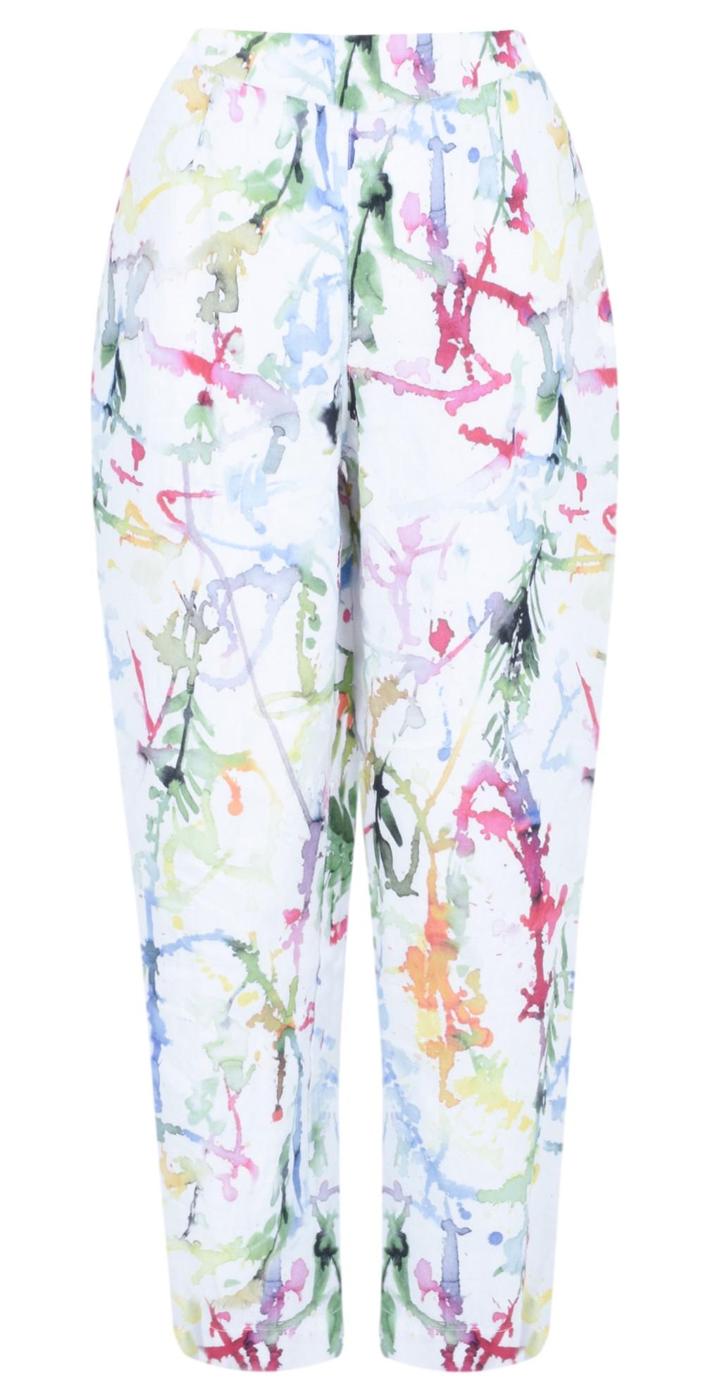 Klara Printed Linen Easyfit Trouser main image