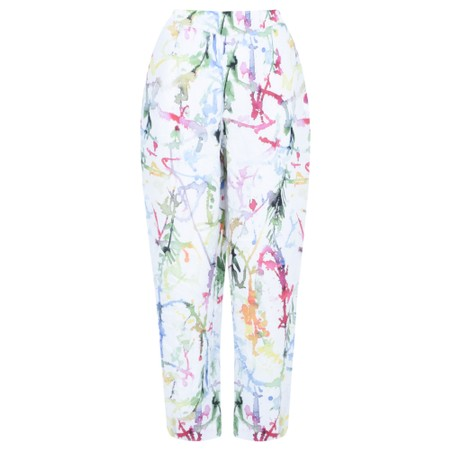 Grizas Klara Printed Linen Easyfit Trouser - Multicoloured