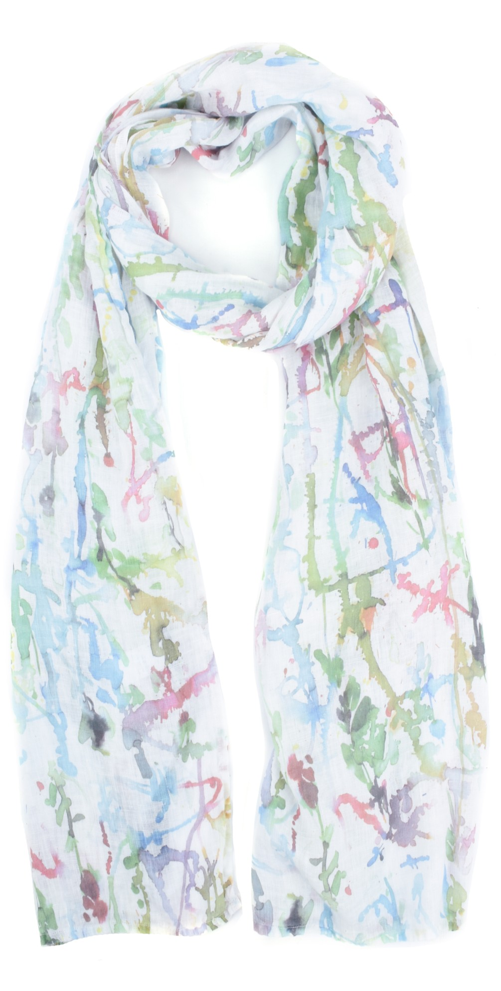 Alve Printed Linen Scarf main image