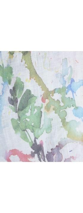 Grizas Alve Printed Linen Scarf Multi