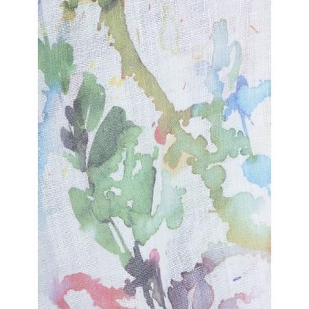 Grizas Alve Printed Linen Scarf - Multicoloured