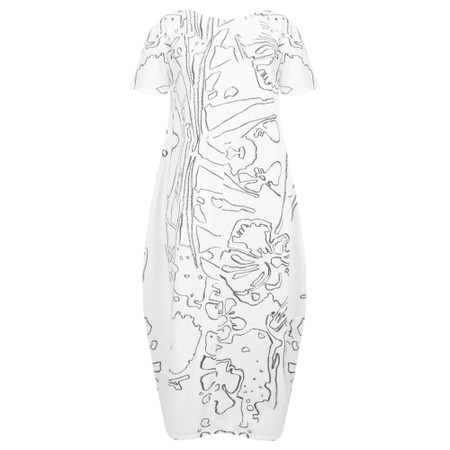 Grizas Yana Abstract Print Jersey Dress - Beige