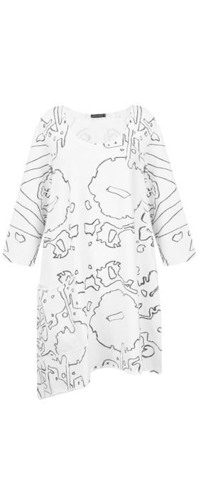 Grizas Alina Abstract Print Tunic Black/White
