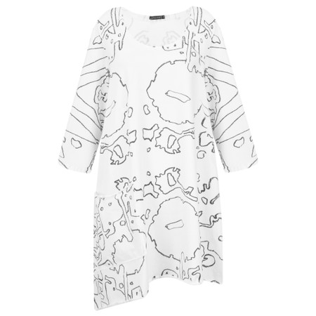 Grizas Alina Abstract Print Tunic - Beige