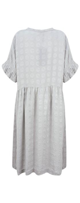 Grizas Marija Frill Sleeve Dress Cool Taupe