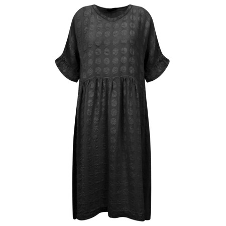 Grizas Marija Frill Sleeve Dress - Black