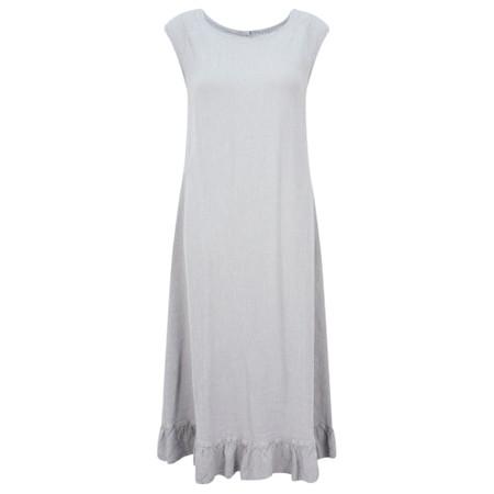 Grizas Juko Linen Frill Hem Dress - Beige
