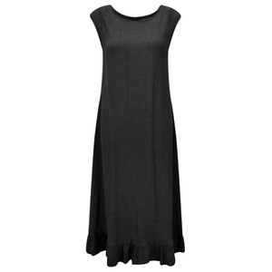 Grizas Juko Linen Frill Hem Dress