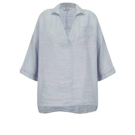 Fenella  Iris EasyFit Shirt with Pocket - Blue