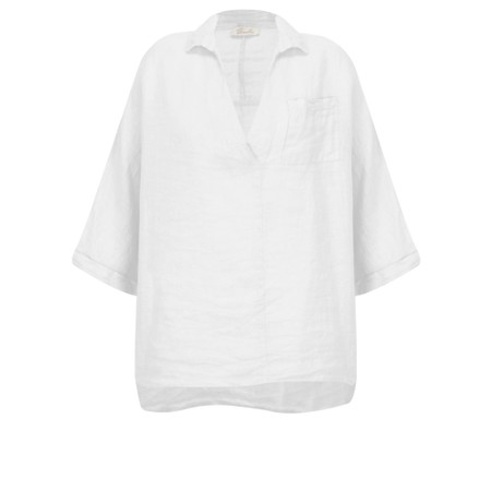 Fenella  Iris EasyFit Shirt with Pocket - White
