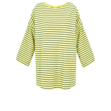 Aisling Dreams Finn Oversized Stripe Top - Green