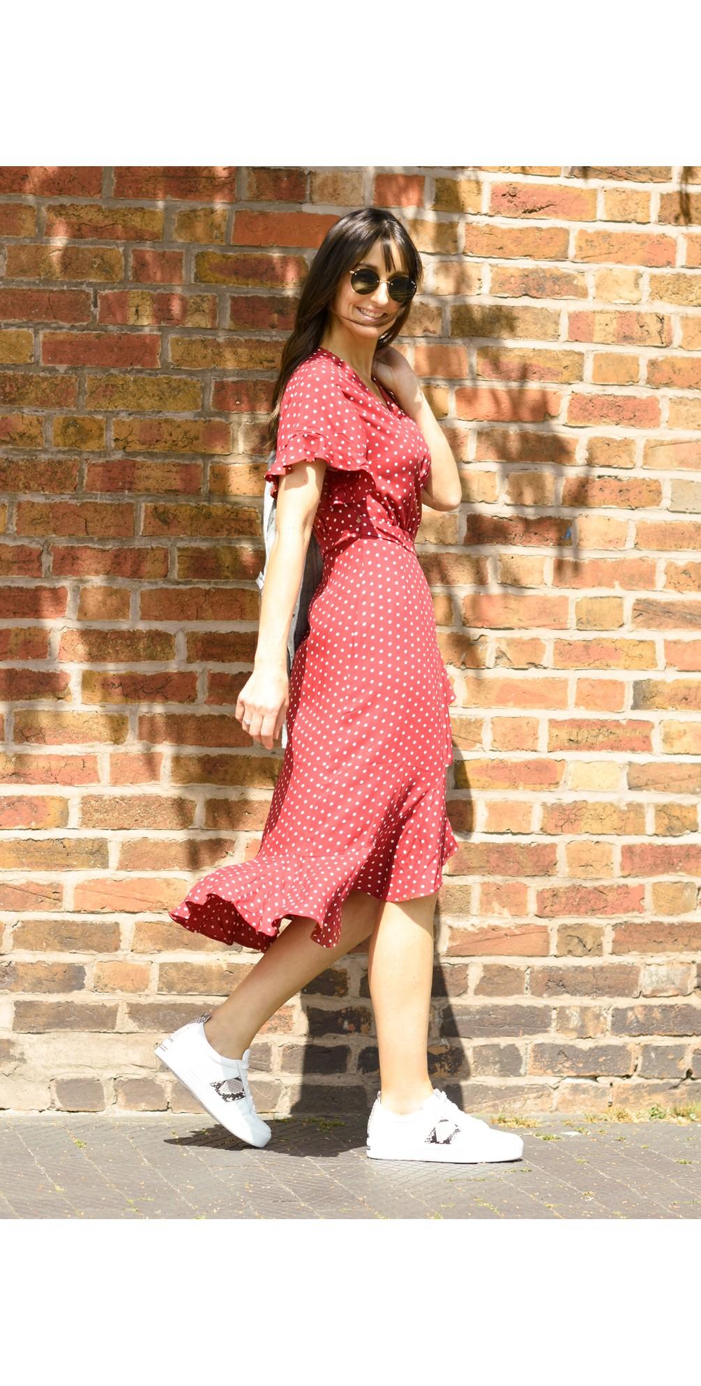 Dana Dot Wrap Dress main image