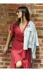 Sandwich Clothing Pearl Grey Linen Ruffle Sleeve Jacket