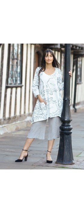 Grizas Juste Linen Culottes Cool Taupe