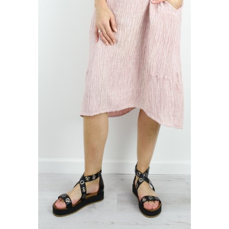 INUOVO Julia Flatform Sandal - Black