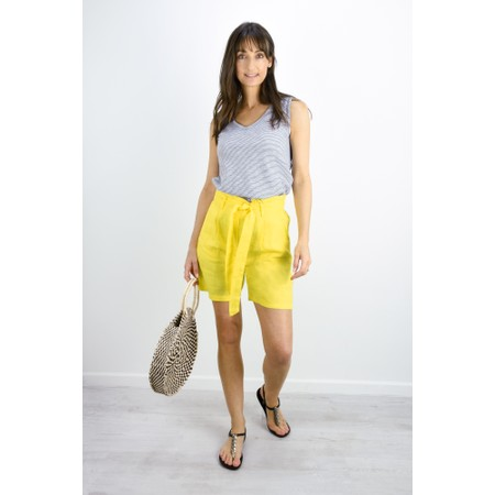 Sandwich Clothing Linen Casual Shorts - Yellow