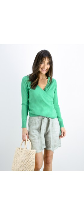 Sandwich Clothing Organic Cotton Wrap Knit Jumper Jolly Green