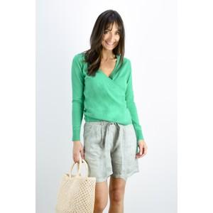 Sandwich Clothing Organic Cotton Wrap Knit Jumper