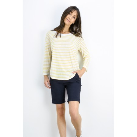 Sandwich Clothing Striped Linen Jersey Top - Yellow