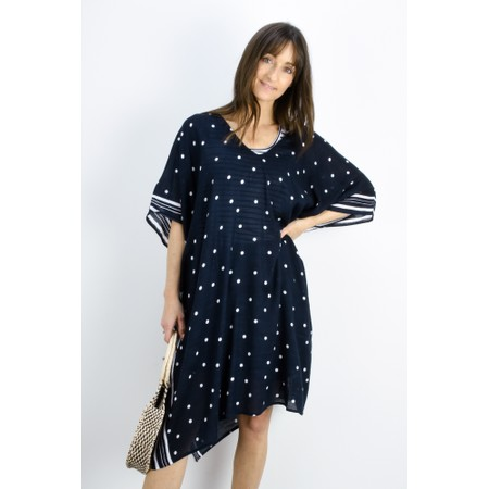 Sandwich Clothing Spot Print Kaftan - Blue