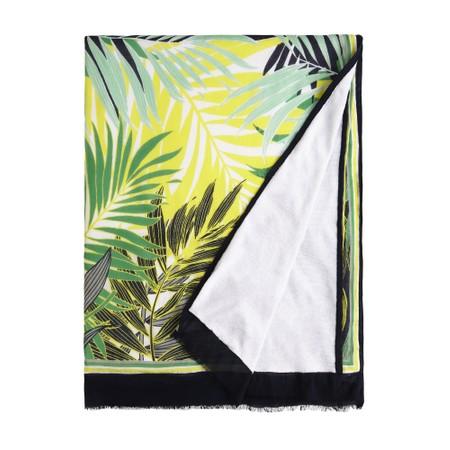 Sandwich Clothing Palm Leaf Jungle Print Towel - Blue