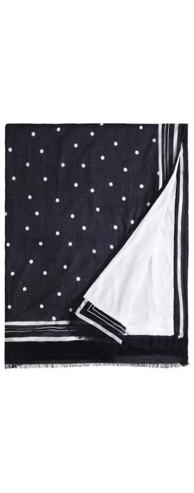 Sandwich Clothing Stripe Spot Print Towel Navy