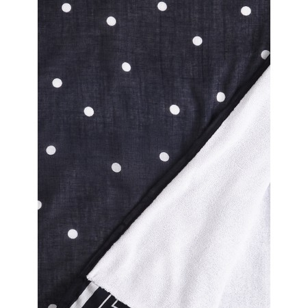 Sandwich Clothing Stripe Spot Print Towel - Blue