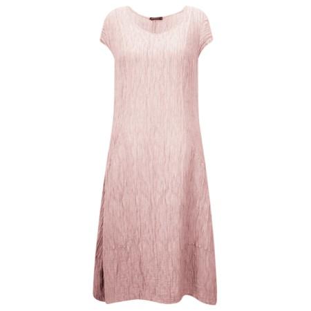 Grizas Luiza Crinkle Linen Blend Dress - Pink