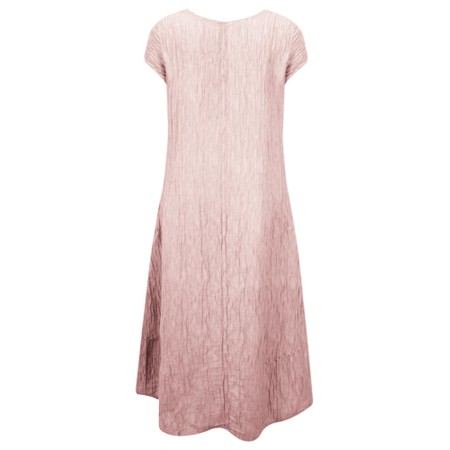 Grizas Luiza Crinkle Linen Blend Dress - Pink