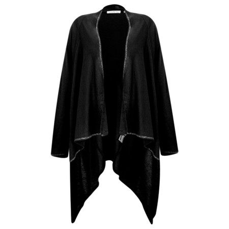 Sundae Tee Lucy Waterfall Cardigan - Black