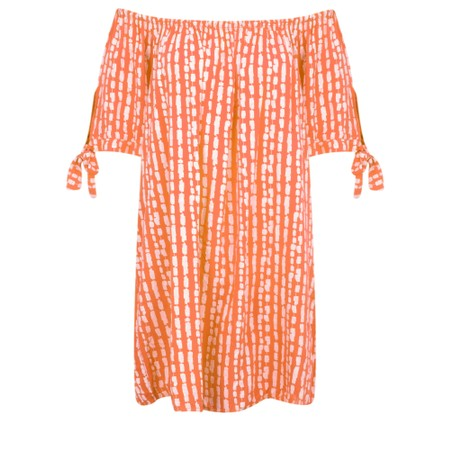 Aisling Dreams Lokho Print Lorri EasyFit Tunic Dress - Orange