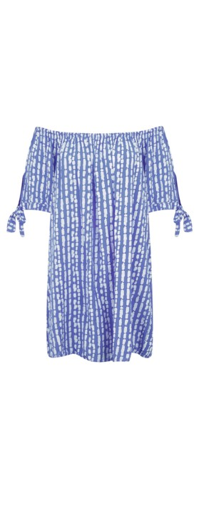 Aisling Dreams Lokho Print Lorri EasyFit Tunic Dress Royal