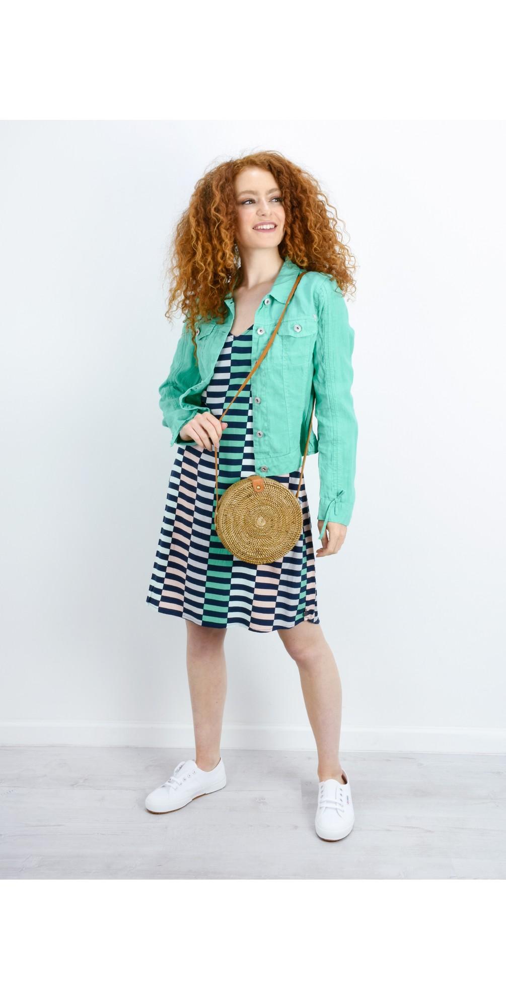 Distorted Stripe Dress main image