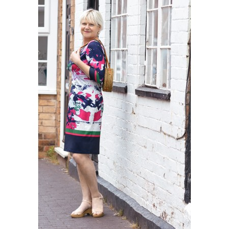 Smashed Lemon Abstract Print Fitted Dress - Multicoloured