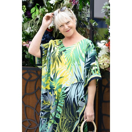 Sandwich Clothing Jungle Print Kaftan - Blue