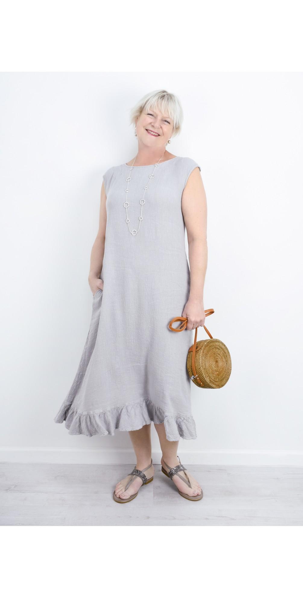 Juko Linen Frill Hem Dress main image