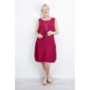 Grizas Domi Solid Crinkle Dress